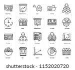 set of 20 icons such as store ...