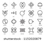 set of 20 icons such as... | Shutterstock .eps vector #1152020879