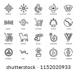set of 20 icons such as... | Shutterstock .eps vector #1152020933