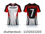 t shirt sport design template ... | Shutterstock .eps vector #1152021203