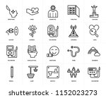 set of 20 icons such as... | Shutterstock .eps vector #1152023273