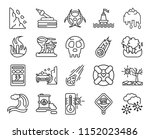set of 20 icons such as snow ... | Shutterstock .eps vector #1152023486