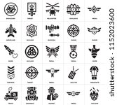set of 25 icons such as nuclear ... | Shutterstock .eps vector #1152023600