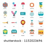 set of 20 icons such as crown ...