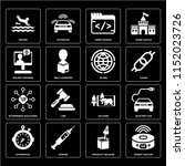 set of 16 icons such as robot...
