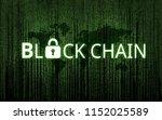 concept of  blockchain ...   Shutterstock . vector #1152025589