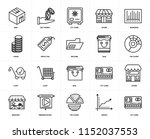 set of 20 icons such as cit...