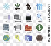 set of 16 icons such as user ... | Shutterstock .eps vector #1152038039