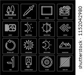 set of 16 icons such as grid...