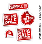 sample not for sale stickers... | Shutterstock .eps vector #115204324