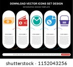 5 vector icons such as notes ...