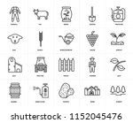 set of 20 icons such as forest  ...