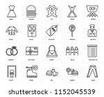 set of 20 icons such as jeans ... | Shutterstock .eps vector #1152045539