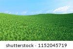 landscape green grass field and ... | Shutterstock . vector #1152045719