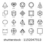 set of 20 icons such as square  ... | Shutterstock .eps vector #1152047513