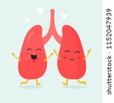 cute lungs organs characters.... | Shutterstock .eps vector #1152047939