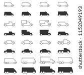 car icons  line vector   Shutterstock .eps vector #1152049193