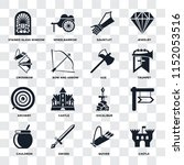 set of 16 icons such as castle  ... | Shutterstock .eps vector #1152053516