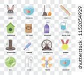 set of 16 icons such as... | Shutterstock .eps vector #1152054929