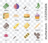 set of 16 icons such as... | Shutterstock .eps vector #1152056606