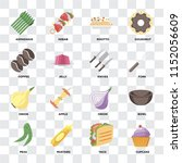 set of 16 icons such as cupcake ... | Shutterstock .eps vector #1152056609