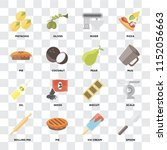 set of 16 icons such as spoon ... | Shutterstock .eps vector #1152056663
