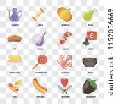 set of 16 icons such as... | Shutterstock .eps vector #1152056669