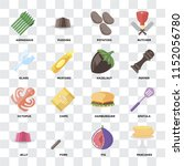 set of 16 icons such as... | Shutterstock .eps vector #1152056780