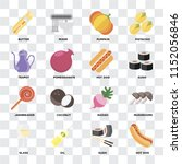 set of 16 icons such as hot dog ... | Shutterstock .eps vector #1152056846