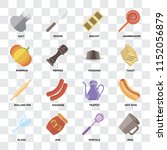 set of 16 icons such as mug ... | Shutterstock .eps vector #1152056879