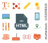 set of 13 simple editable icons ... | Shutterstock .eps vector #1152058310