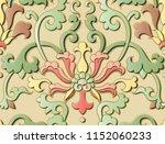 seamless relief sculpture...   Shutterstock .eps vector #1152060233