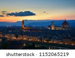 florence panorama after night.... | Shutterstock . vector #1152065219