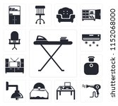 set of 13 simple editable icons ... | Shutterstock .eps vector #1152068000