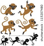 Monkeys  Cartoon Monkey In 4...