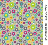 floral seamless color pattern... | Shutterstock . vector #115207999