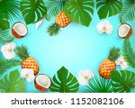 summer tropical background with ... | Shutterstock .eps vector #1152082106