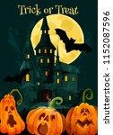halloween greeting card of... | Shutterstock .eps vector #1152087596