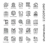 collection of real estate line...   Shutterstock .eps vector #1152091490