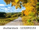 autumn forest road landscape.... | Shutterstock . vector #1152092153