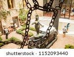 rainy taxi sculpture 'dali'...   Shutterstock . vector #1152093440