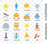set of 16 icons such as comet ... | Shutterstock .eps vector #1152095636
