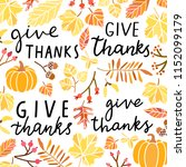 give thanks hand drawn vector... | Shutterstock .eps vector #1152099179
