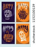 halloween backgrounds... | Shutterstock .eps vector #1152100139