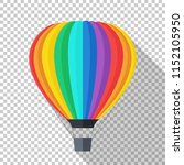 hot air balloon icon in flat... | Shutterstock .eps vector #1152105950