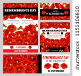 remembrance day lest we forget... | Shutterstock .eps vector #1152106820