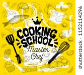 sketch style master chef... | Shutterstock .eps vector #1152114296