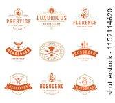 restaurant logos design... | Shutterstock .eps vector #1152114620