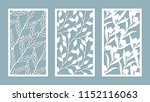 set template for cutting.... | Shutterstock .eps vector #1152116063