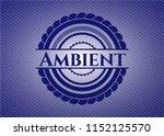 ambient emblem with denim... | Shutterstock .eps vector #1152125570